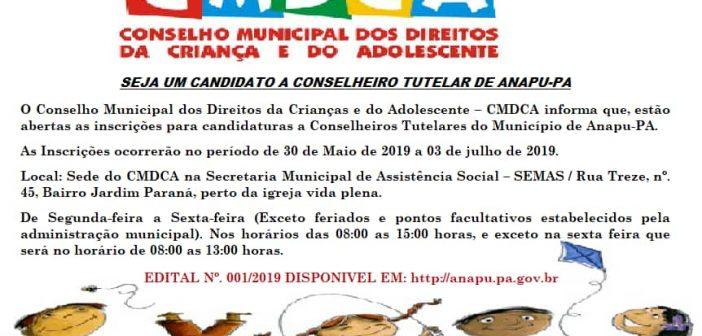 Convite para Candidatos a Conselheiro Tutelar