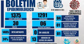 Boletim COVID-19 (30/03/2021)